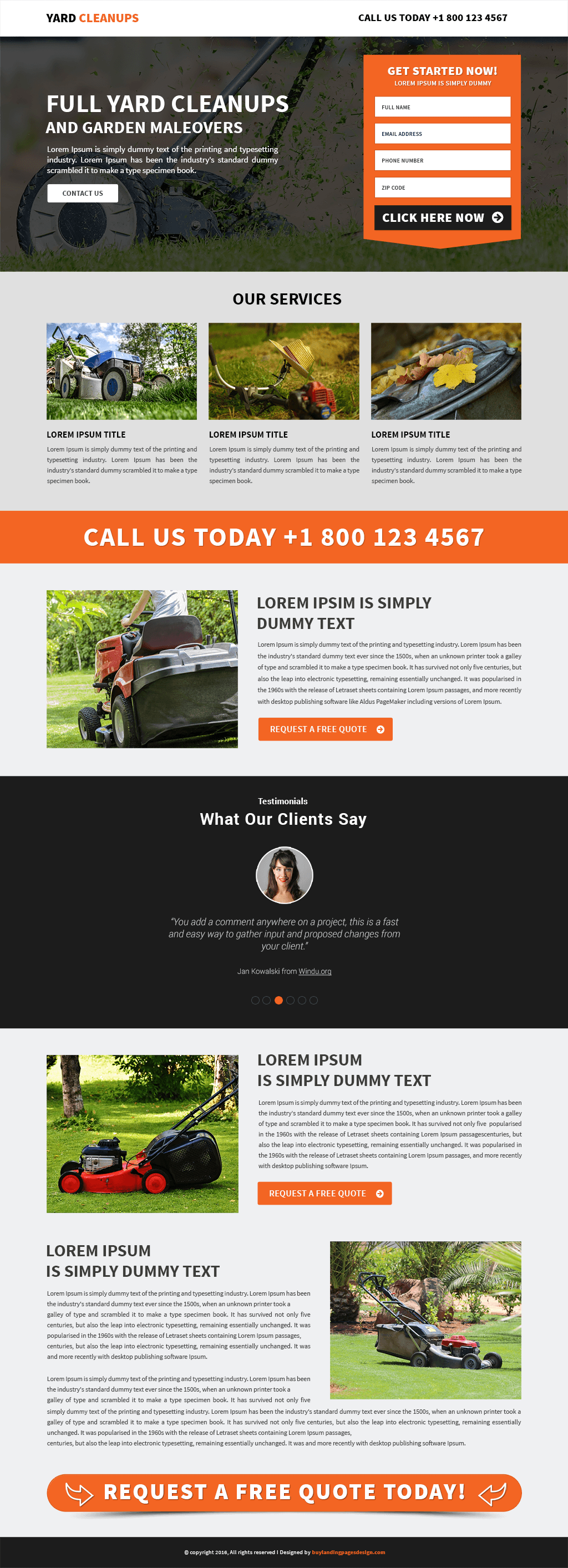 stunning yard cleaning services template buy landing pages design yard cleaning services responsive landing page template