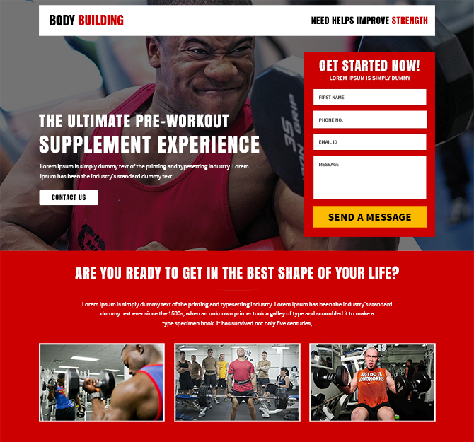responsive body fitness gym template