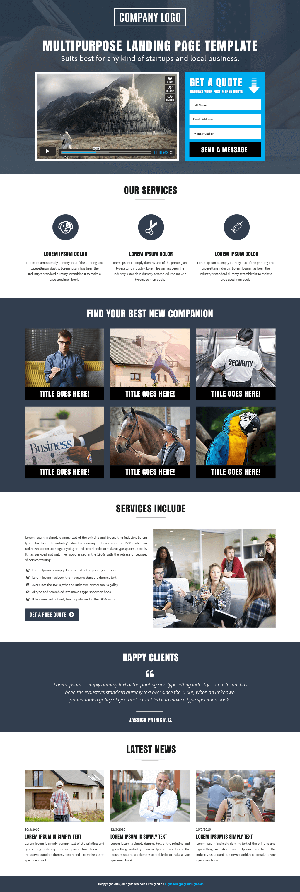 Responsive Business Opportunity Landing Page Design Template