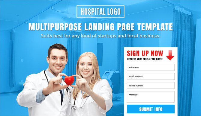 professional responsive hospital template buy landing pages design