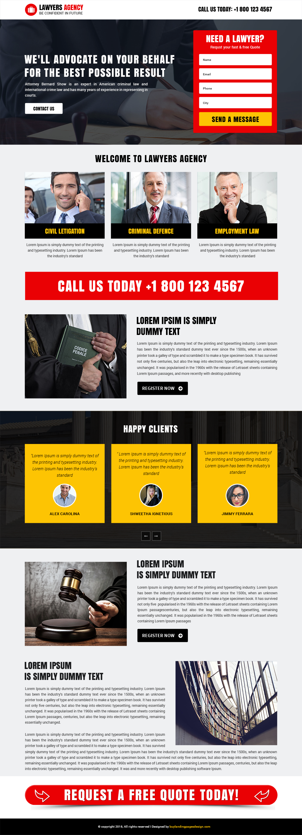 Best responsive lawyers agency landing page design template
